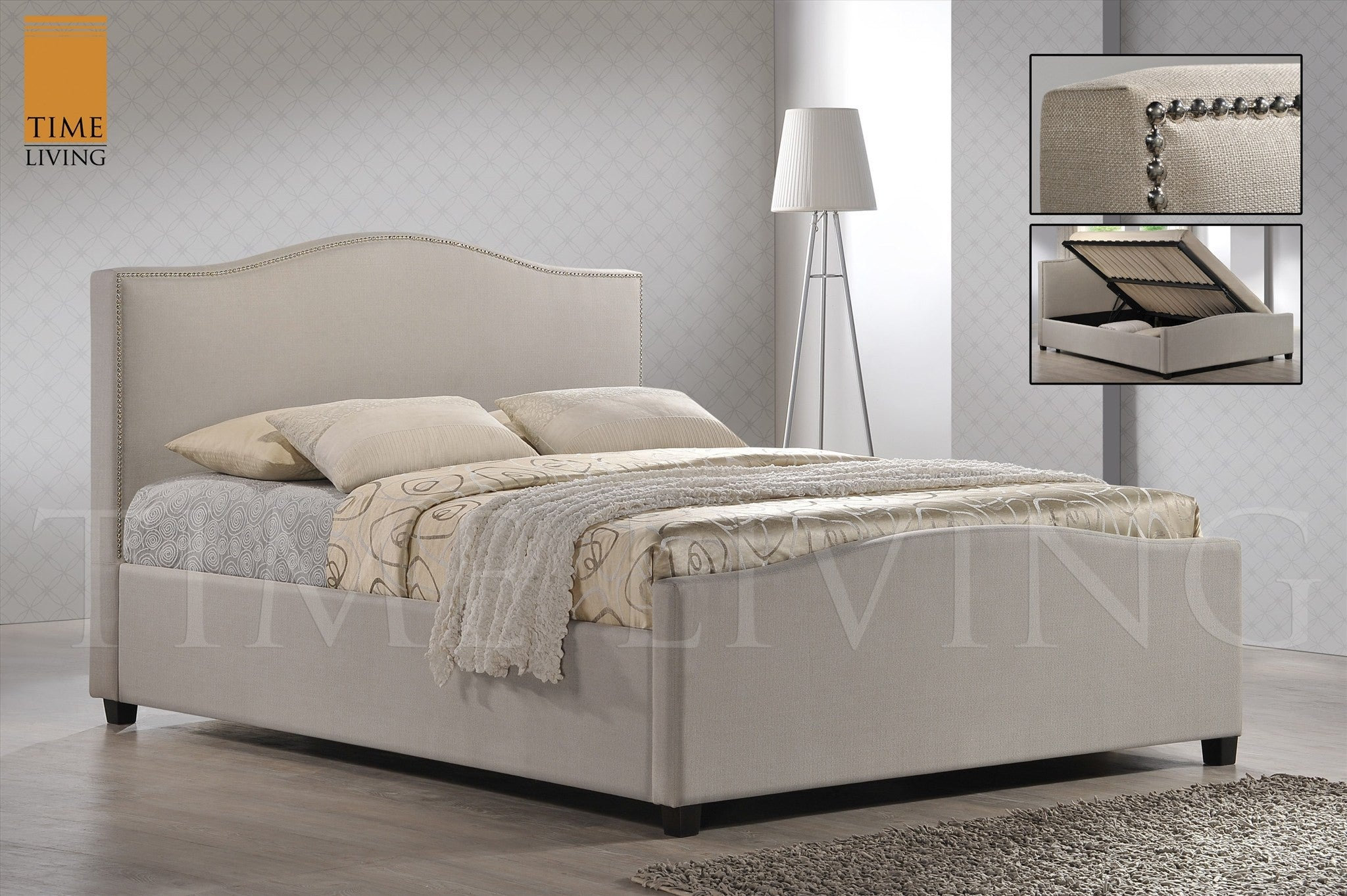 Ottoman In Bedroom Time Living Brunswick Side Ottoman Fabric Bed Frame Hamseys