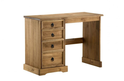 BIRLEA Corona 4 Drawer Dressing Table Waxed Pine