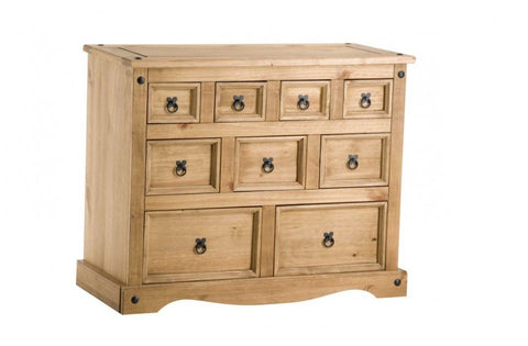 BIRLEA Corona 4 + 3 + 2 Drawer Waxed Pine Merchant Chest