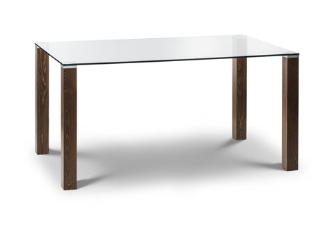 JULIAN BOWEN Cayman Glass Top Dining Table