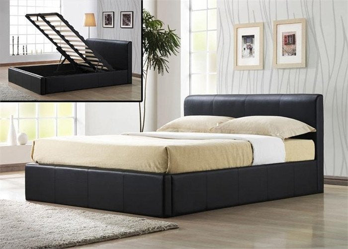 TIME LIVING Frankfurt Ottoman Faux Leather Storage Bed