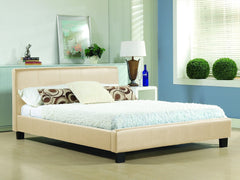 TIME LIVING Hamburg Cream Faux Leather Bed