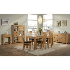 Avon Oak Fixed Top Dining Table 180 x 90