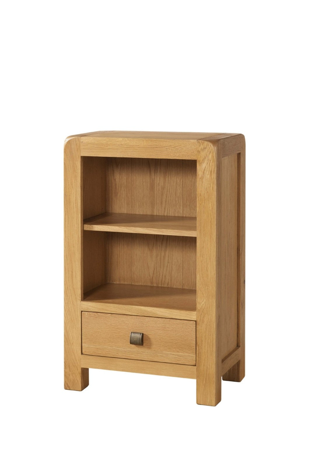 Avon Oak Low Bookcase With 1 Drawer
