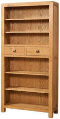 Avon Oak Tall Bookcase With 2 Drawer
