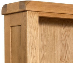 Clovelly Oak Large Bookcase With 2 Drawers