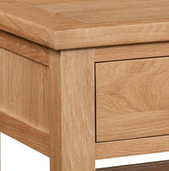 Dorset Oak Coffee Table With 2 Drawers