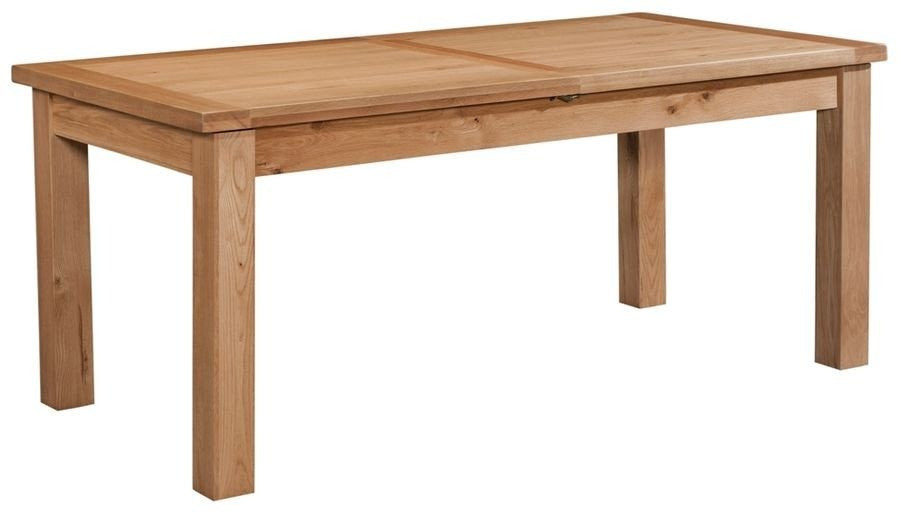 Dorset Oak Large Extending Dining Table With 2 Leaf