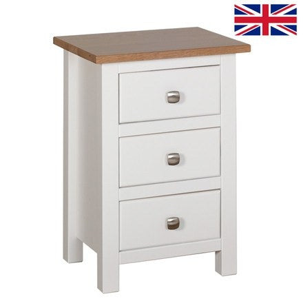 Kenwith Painted Collection Compact 3 Drawer Bedside