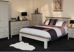 Kenwith Painted Collection Slatted Low End Bed Frame