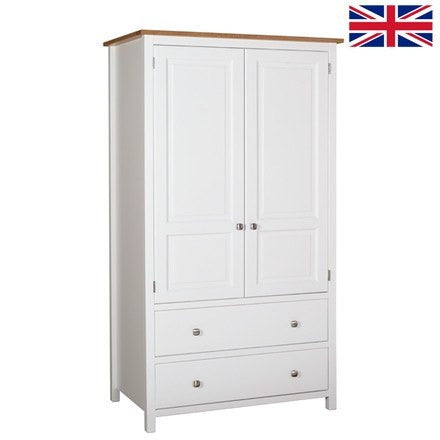 Kenwith Painted Collection Double Wardrobe With 2 Drawers