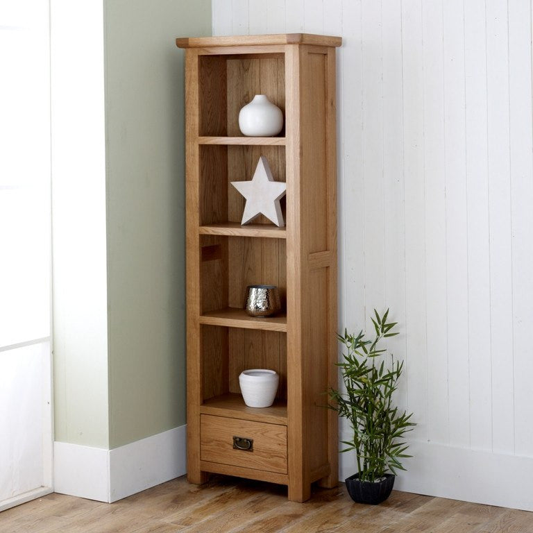BIRLEA Malvern 1 Drawer Oak Bookcase