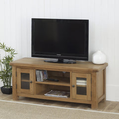 BIRLEA Malvern Large Oak TV Unit