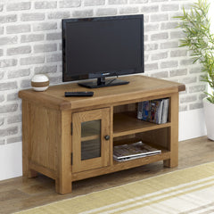 BIRLEA Malvern Oak Small TV Unit