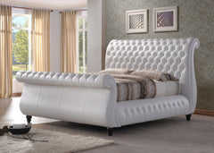TIME LIVING Swan White Leather Bed