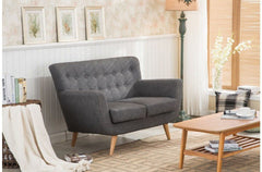 BIRLEA Loft 2 Seater Grey Sofa
