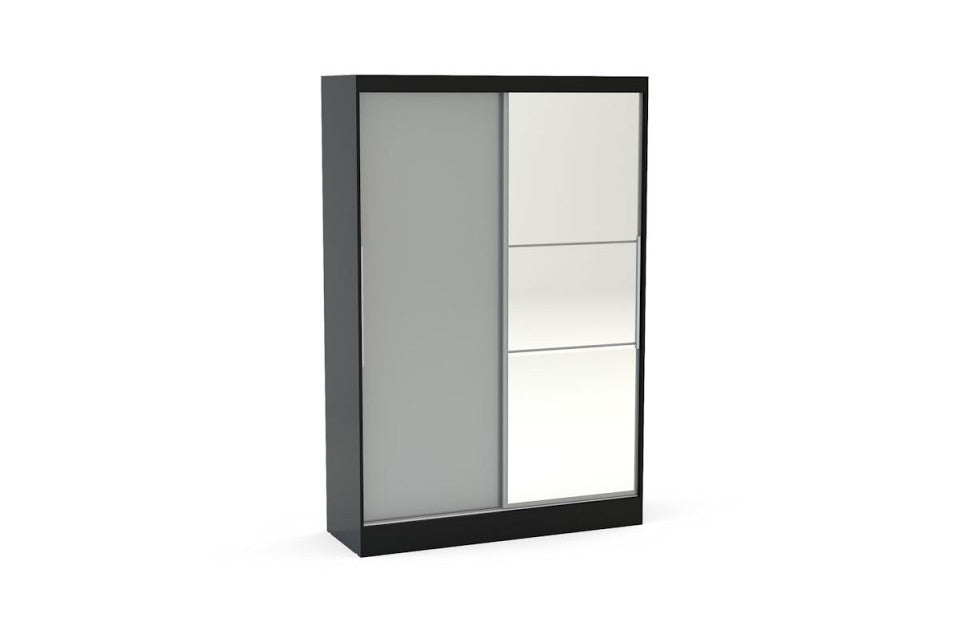 BIRLEA Lynx 2 Door Sliding Wardrobe With Mirror