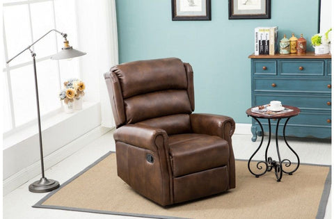 BIRLEA Manhattan Faux Leather Recliner Chair