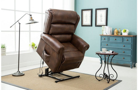BIRLEA Manhattan Faux Leather Rise And Recliner Chair