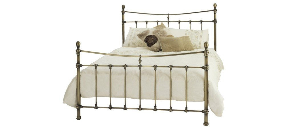 SERENE Olivia Antique Brass Bed Frame