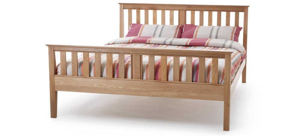SERENE Salisbury High Foot End Oak Bed Frame