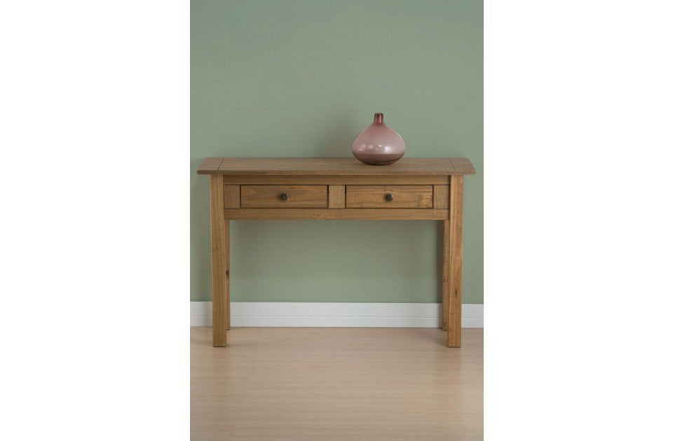 BIRLEA Santiago 2 Drawer Distressed Pine Console Table
