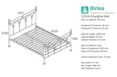 BIRLEA Shanghai Brushed Nickel Metal Bed