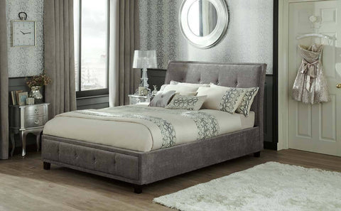 Serene Wesley Ottoman Fabric Storage Bed