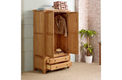 BIRLEA Woodstock 2 Door 2 Drawer Wardrobe