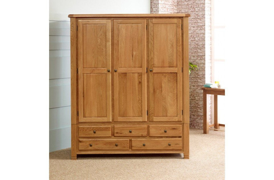 BIRLEA Woodstock 3 Door 5 Drawer Wardrobe