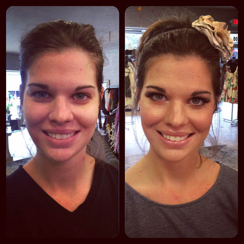 River Rose Makeup Bar in New Braunfels, TX - Before and After