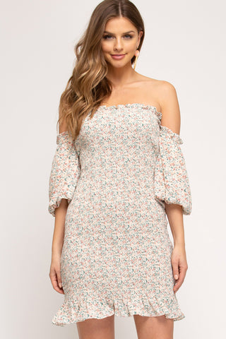 Sage Ruched Dress