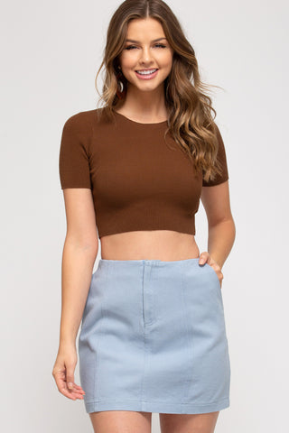 Twill Washed Mini Skirt NEW