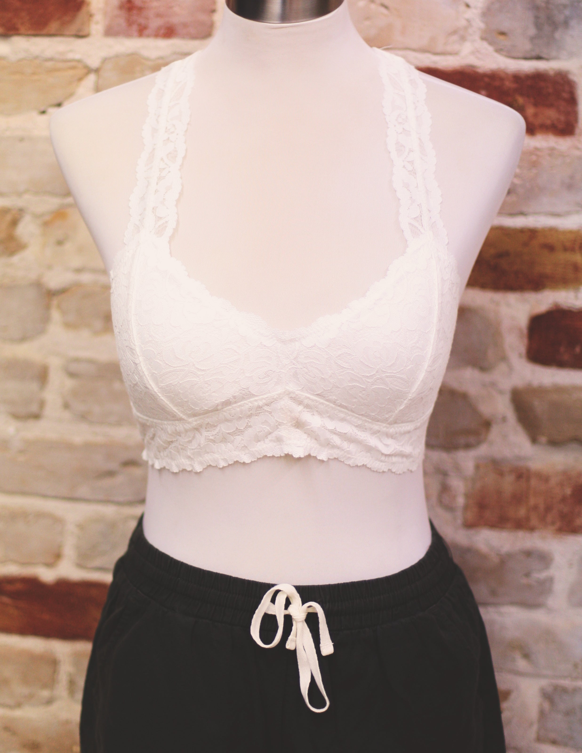 Basic Lace Racer Back - River Rose