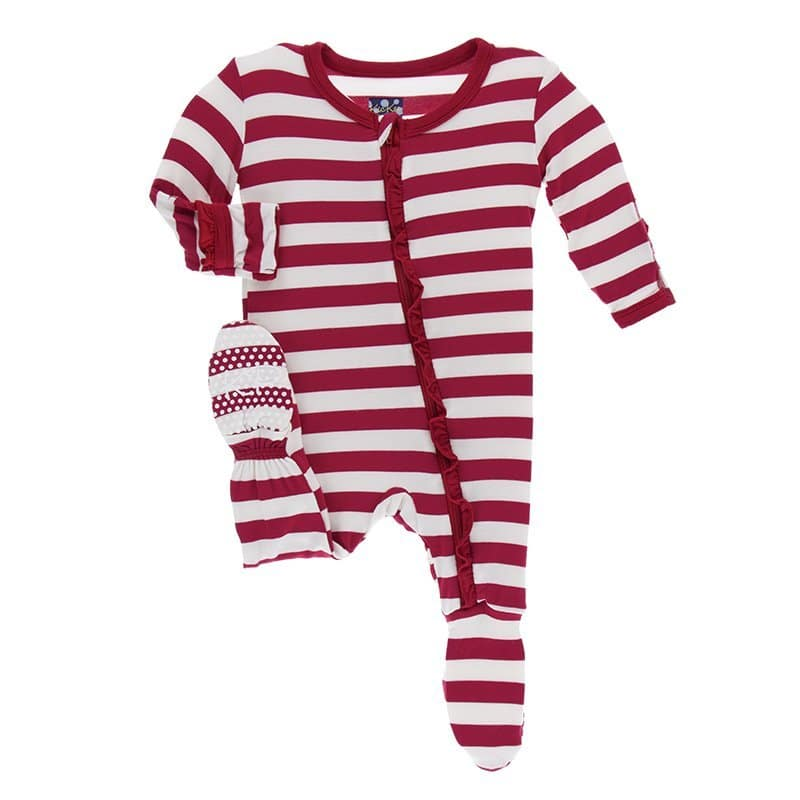 Candy Cane Stripe Footie