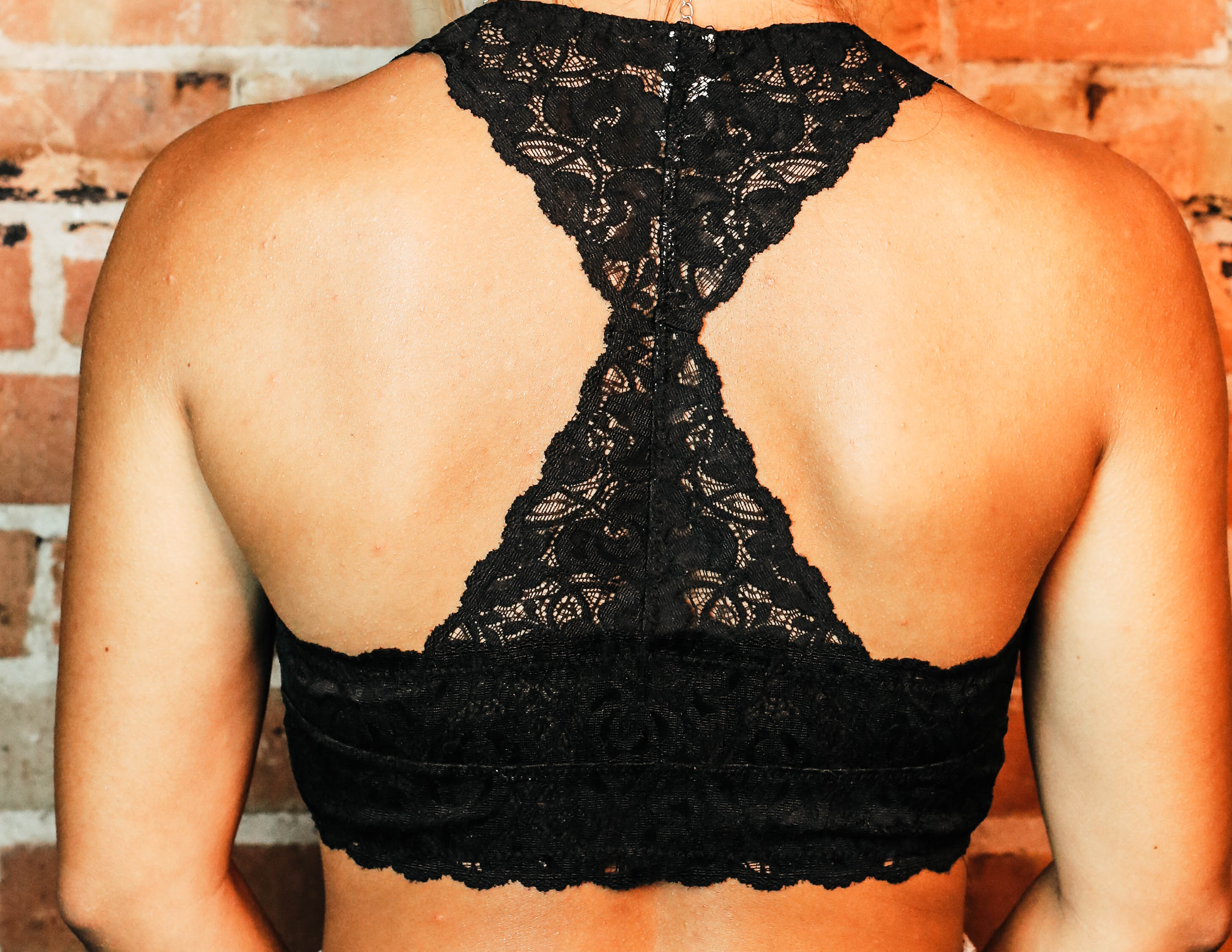 Everyday Unpadded Lace Racerback Bralette