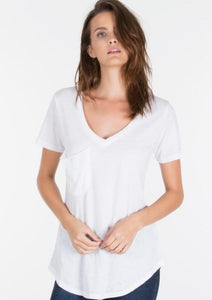 Bella Pocket Tee - River Rose