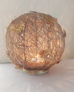 Wire Mesh Butterfly Orb Candle - Dhoop