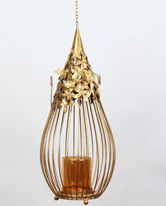 Butterfly Balloon Candlestand Large  - Gold - Dhoop