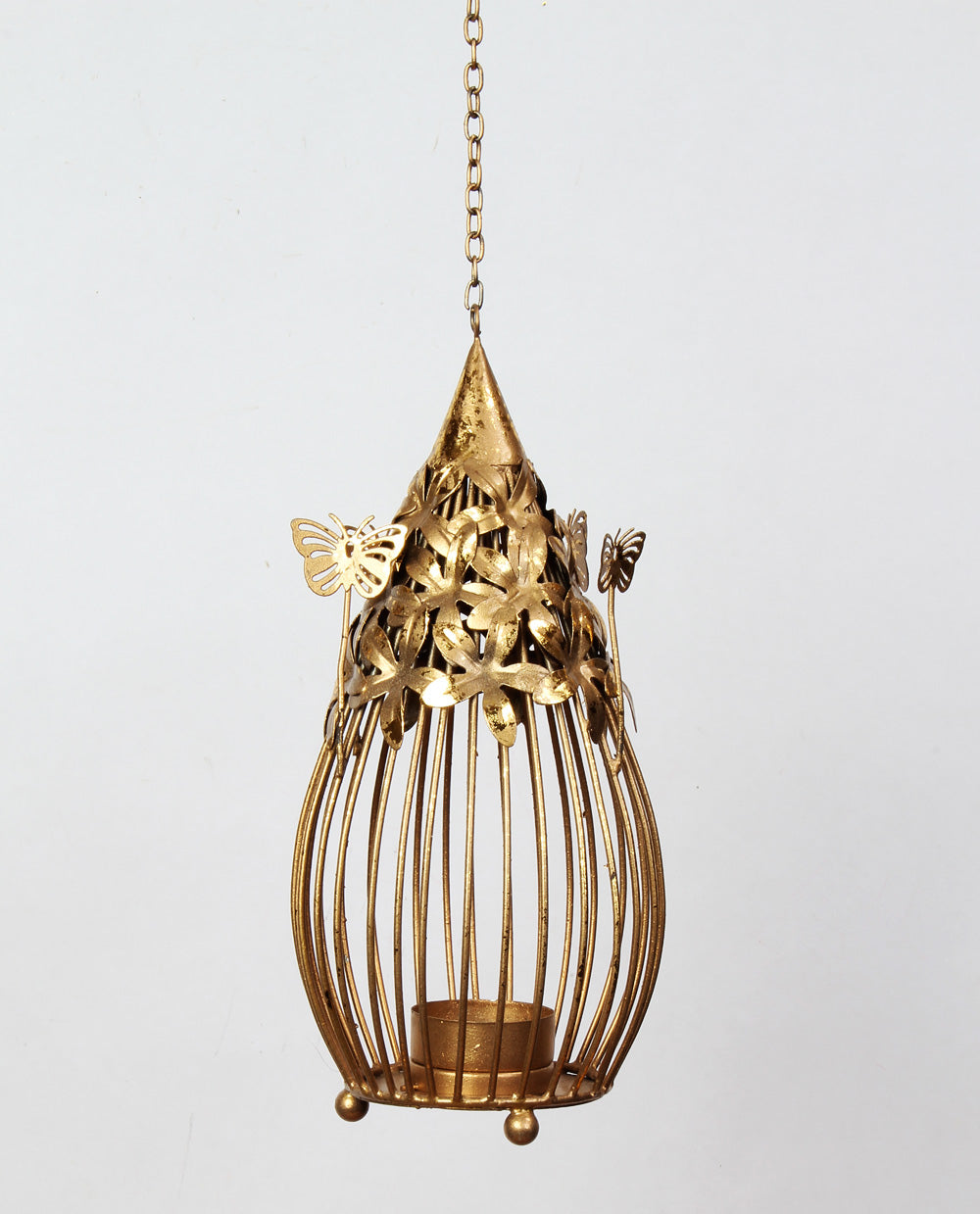 Butterfly Balloon Candlestand Small   - Gold - Dhoop