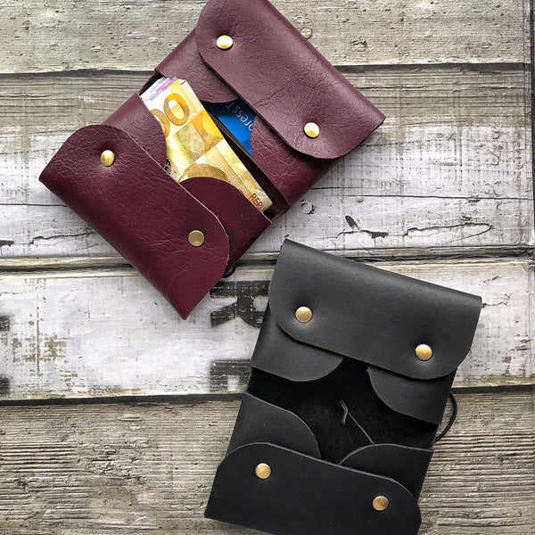 Pack of 6 Leather Cards & Bills Wallet