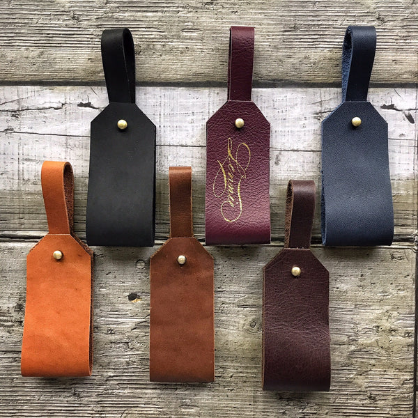 Pack of 6 Leather Luggage Tag