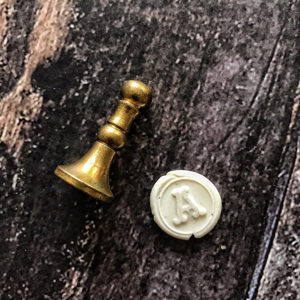 """A"" Vintage Wax Seal Letter (brass)"