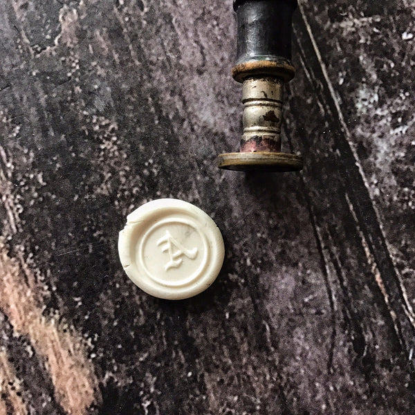 """A"" Vintage Wax Seal Letter (wood)"