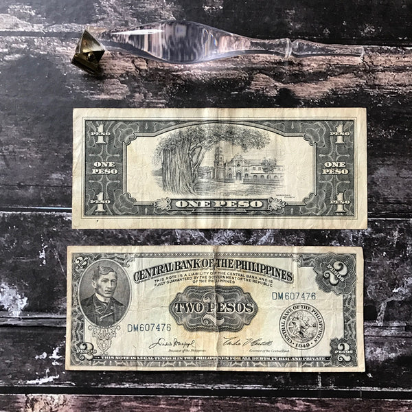 No.046 - Vintage Philippine Peso Bill Holder