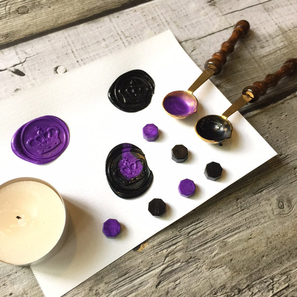 Wax Beads - Purple & Black