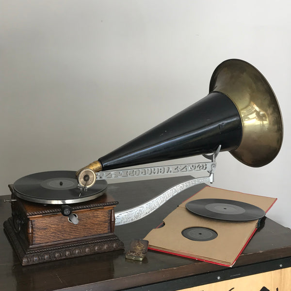 1900's Columbia AJ Gramophone Talking Machine