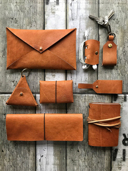 Pack of 6 Leather Coin Purse