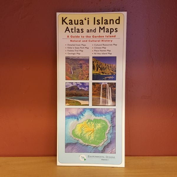 Kauai Island Atlas and Map, by Environmental Designs , Map - Environmental Designs, The Kauai Store