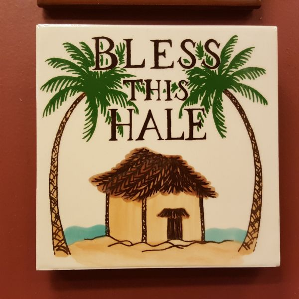 Ceramic Tiles - Bless This Hale, by Banana Patch Studios